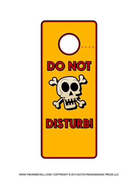 Free Printable Door Hanger Templates Blank Downloadable Pdfs Do Not Disturb Sign Template