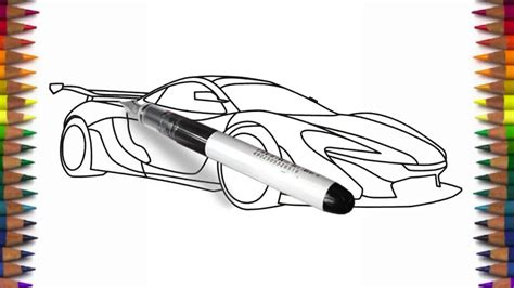 supercar drawing how to draw mclaren p1 by drawing a supercar