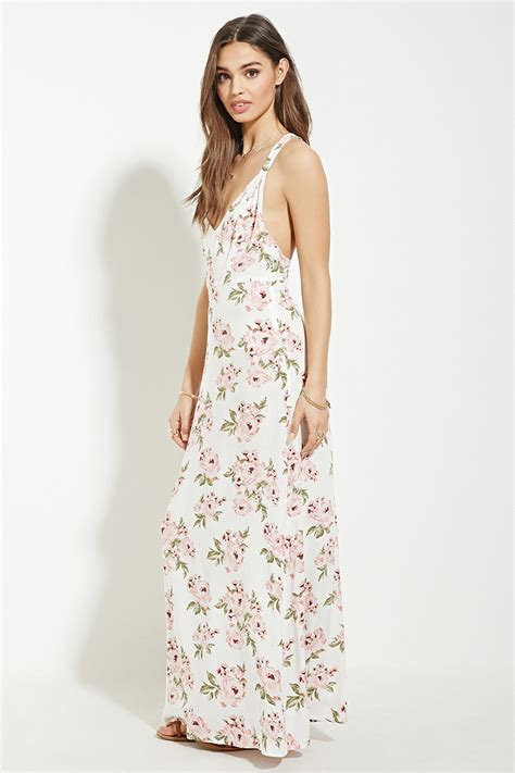 Maxi Lace Flowery white lace maxi dress forever 21 www pixshark