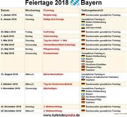 Kalender 2018 Feiertage Und Ferien Bayern Feiertage Bayern 2017 2018 2019 Mit Druckvorlagen