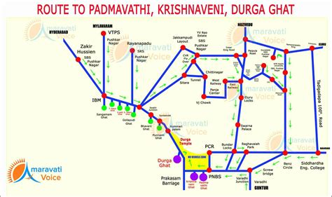 route map route map to padmavathi krishnaveni and durga ghat in vijayawada news