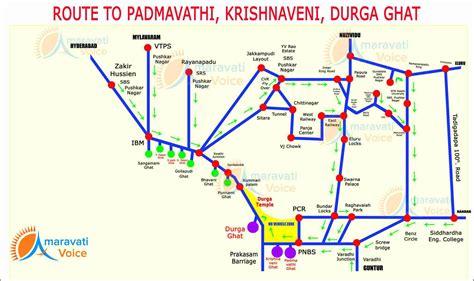 map a route route map to padmavathi krishnaveni and durga ghat in vijayawada news