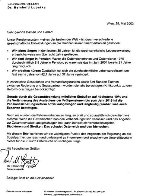 Offizieller Brief Mit Betreff parlamentarische materialien