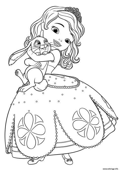 sofia coloring pages pdf coloriage princesse sofia adore son lapin dessin
