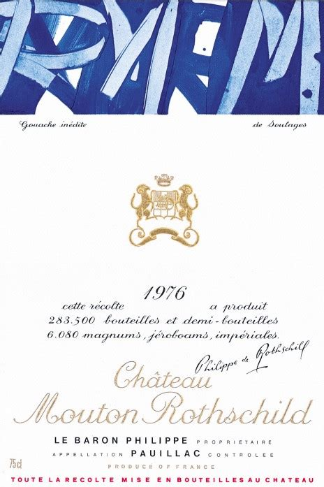 ch 226 teau mouton rothschild the labels room mouton rothschild 1976 pierre soulages