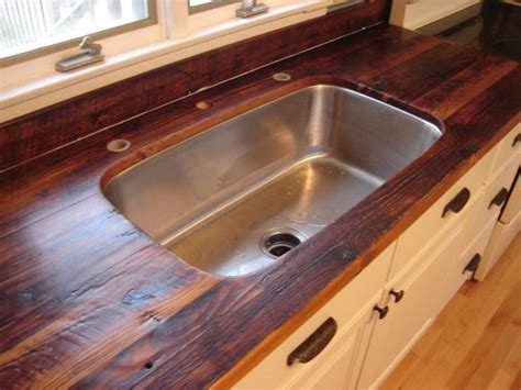 rustic recalimed barn rafters for countertops