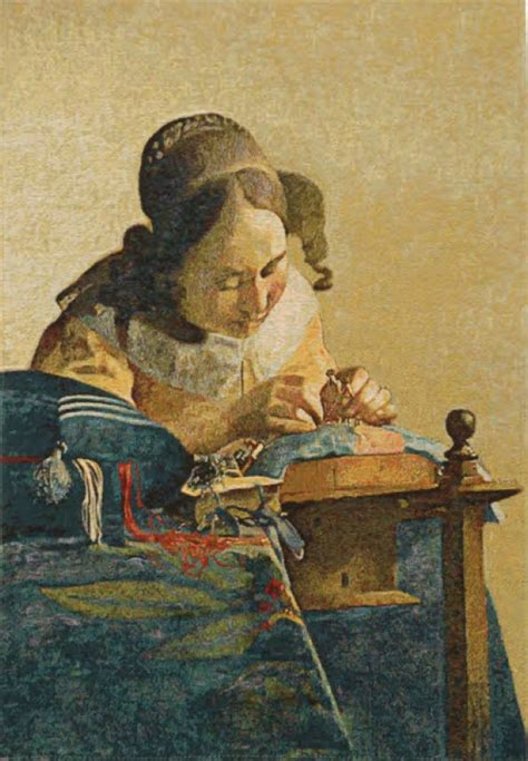 the lacemaker the lacemaker tapestry johannes vermeer wall tapestries