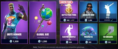 fortnite new items fortnite item shop adds new brite set including adorable bag