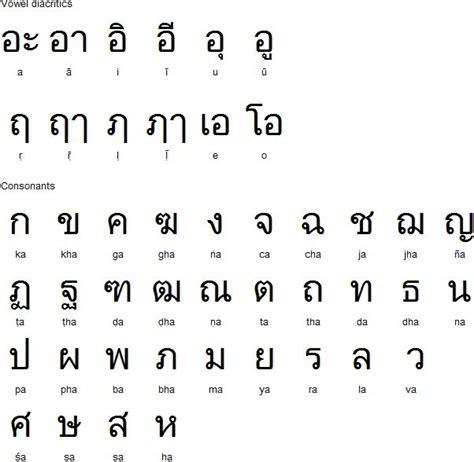 printable word search thailand thai alphabet for sanskrit script pinterest
