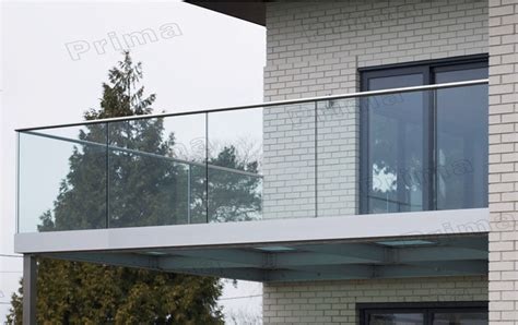 Exterior Glass Wall Panels Cost by Balcony Balustrade Aluminium Profile For Glass Railing