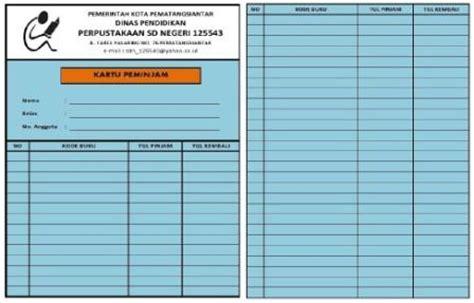format buku induk anggota perpustakaan sekolah dasar negeri 125543 menyelenggarakan pendidikan