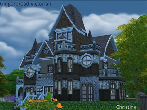Gingerbread Victorian house by Christine at CC4Sims » Sims
