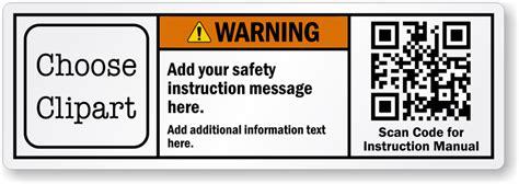 design your label online custom ansi safety labels ansi z535 designs