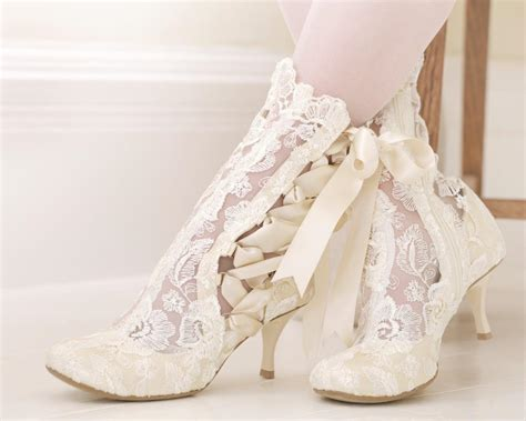 Schuhe Ivory Spitze by Lotti Elliot Ivory Lace Ankle Boot House Of Elliot
