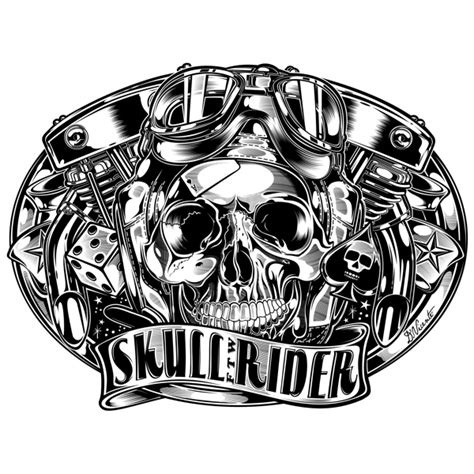 buckle quot skull rider f t w quot by david vicente