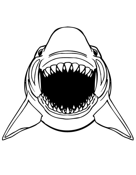 cartoon shark for kids coloring page h m coloring pages great white shark scary teeth coloring page h m