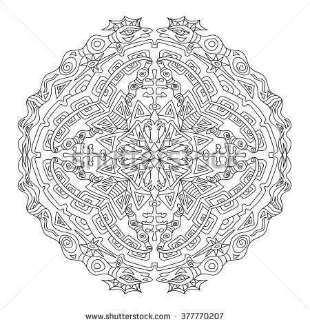mandala coloring book in dubai mandalas decorative elements vector stock