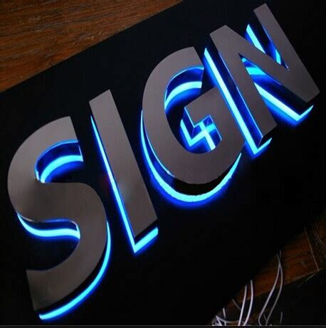 Led Wifi Backlite Sign backlit stainless steel illuminous 3d letter signs led lighted sign acpsigns signage showroom