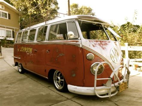 buy   vw deluxe  window bus ratrod slammed custom  sunland california united