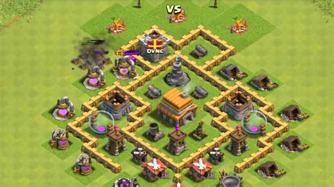 Best Layout In Coc Th5 | best clash of clans th5 base layout defense 2015 youtube