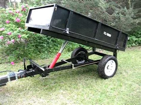 hydraulic dump trailer for farm tractor youtube