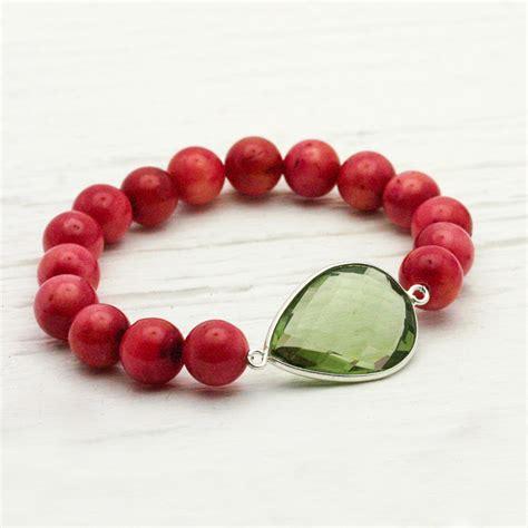 Pav Watermelon Charm P 916 byjodi jewelry watermelon jade quartz teardrop statement bracelet