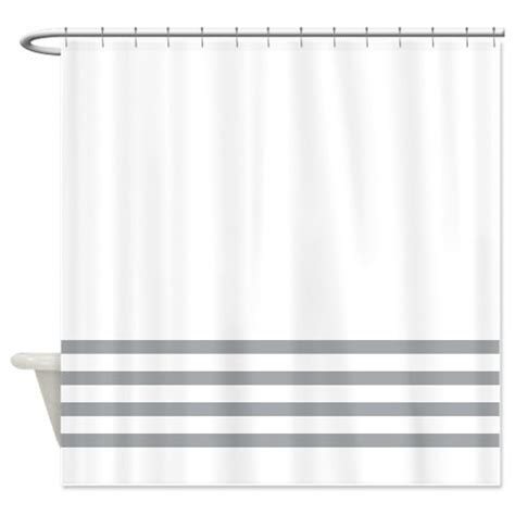 gray and white striped shower curtain striped shower curtain white with grey stripes or customize
