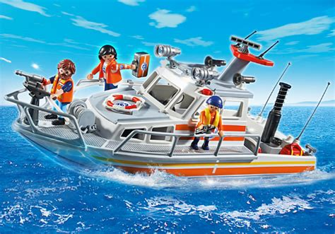 playmobil boat playmobil rescue boat with water hose smart kids toys