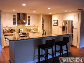 bar seating at large island transitional kitchen other metro by cabinets com by kitchen