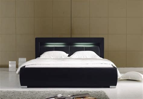 groz modern leather bed frame black modern beds by