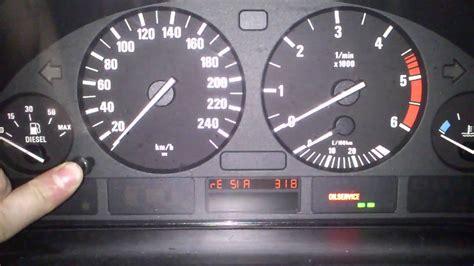 kasowanie inspekcji bmw   oil service indicator light