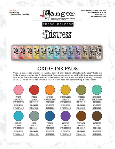 what color are you m i a pads 2017 sneak peek ranger distress tim holtz