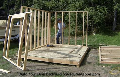 build  shed building shed walls
