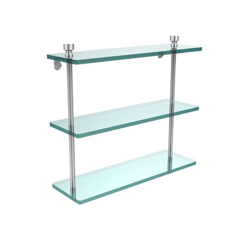 Glass Floating Shelves Shelves Shelf Brackets The Glass Shelves Home Depot