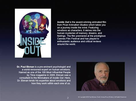 Parents Guide To Inside Out Paul Ekman Group Llc