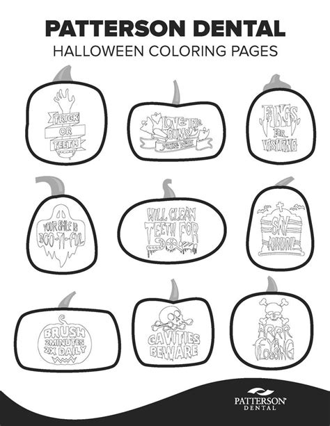 halloween dental coloring page 95 best dental diy images on pinterest dental dentistry