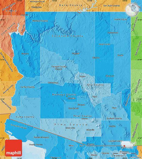 united states map of arizona political shades map of arizona