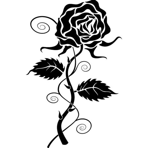 gothic rose clipart