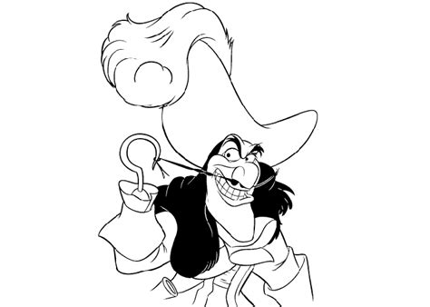 Free Coloring Pages Of Disney Captain Hook Captain Hook Coloring Pages