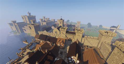 medieval castle  town minecraft building