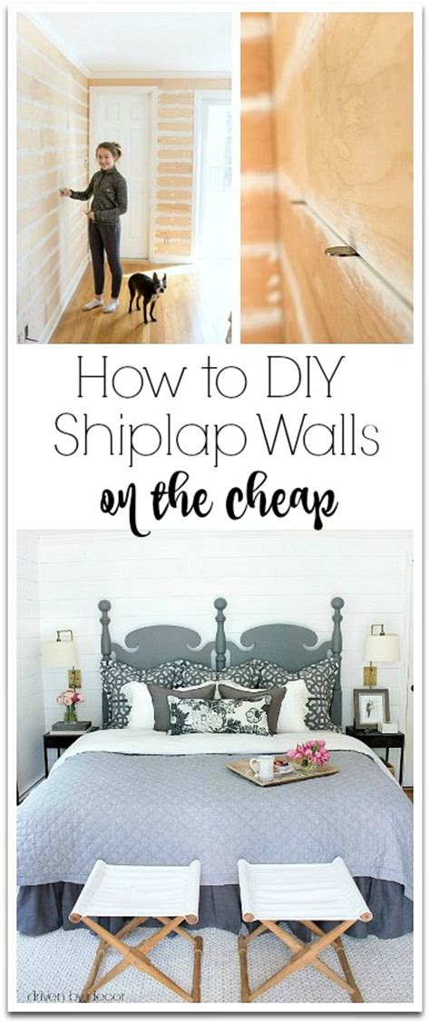 Shiplap On A Budget How To Diy Shiplap Walls On The Cheap Driven By Decor