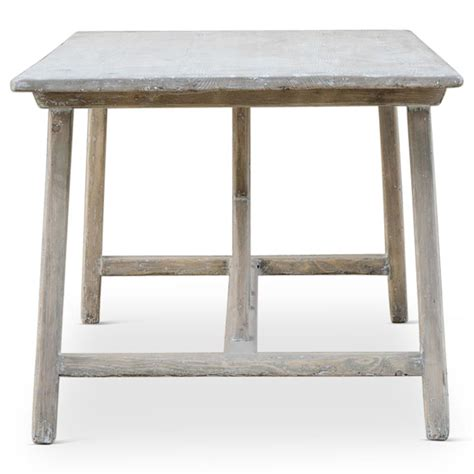 White Country Dining Table Paulette Country Chalk White Wash Desk Dining Table Kathy Kuo Home