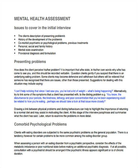 health assessment examples   examples
