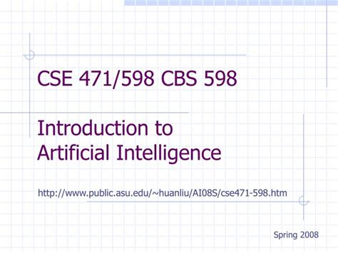 introduction to artificial intelligence undergraduate topics in computer science books ppt cse 471 598 cbs 598 introduction to artificial