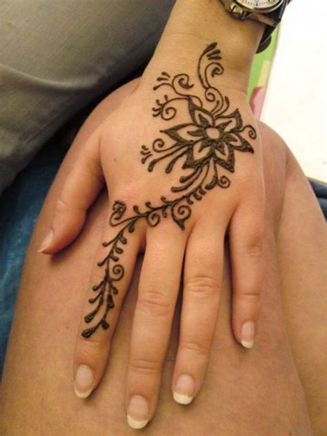 hand flower tattoo 72 stylish heena tattoos on finger