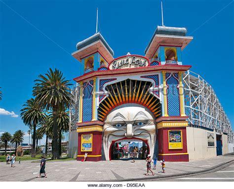theme park victoria luna park melbourne stock photos luna park melbourne