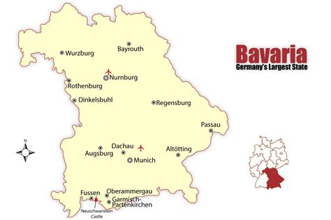 bavaria germany map bavaria map and travel guide