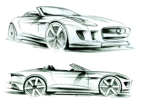 sketch book car jaguar f type design sketches sketches