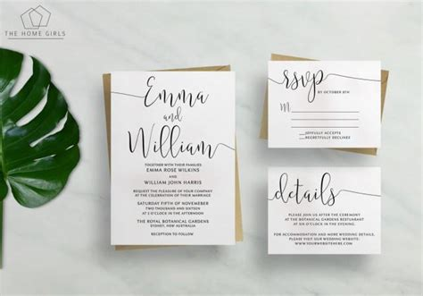 printable wedding invitation suites printable wedding invitation suite calligraphy save the