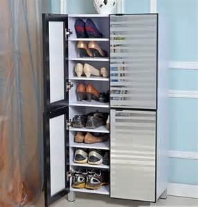 Shoe Closet With Doors Shoe Cabinet With Glass Doors 4 Doors Models Home Interiors